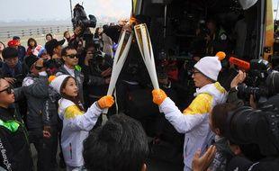 La flamme olympique arrive en Corée du Sud