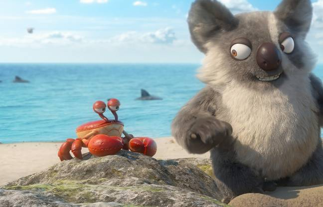 Igor, le méchant koala, et son acolyte, le crabe Surimi, les protaonistes du film Les As de la jungle.