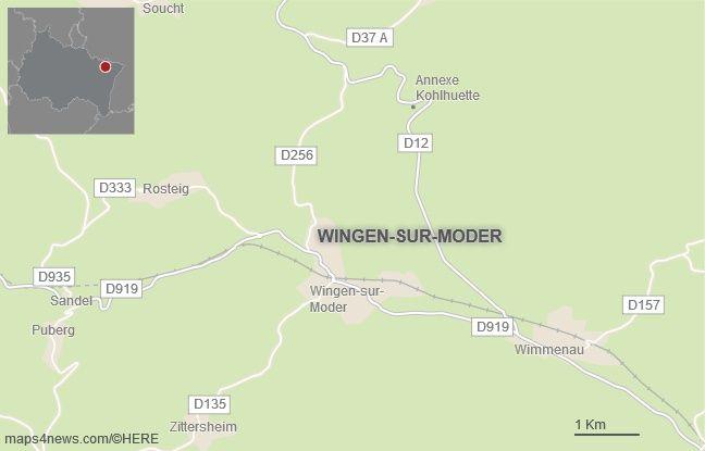 La commune de Wingen-sur-Moder, dans le Bas-Rhin.