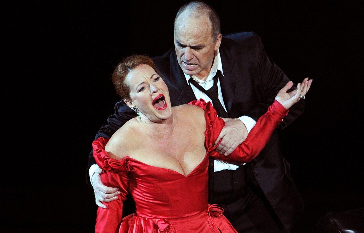 Des chanteurs lyriques interprètent «Tosca» en 2010 (illustration). – GERARD JULIEN / AFP