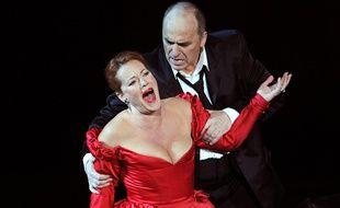 Des chanteurs lyriques interprètent «Tosca» en 2010 (illustration).