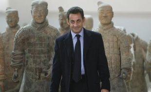 Nicolas Sarkozy, le 25 novembre 2007, premier jour de son voyage en Chine