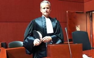 Renaud Gaudeul, procureur de la République de Nantes, lors de son audience d'installation, lundi 27 septembre 2021.