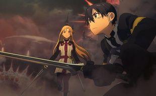 Kirito et Asuna dans Sword Art Online