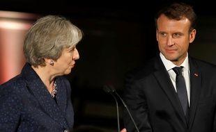Theresa May et Emmanuel Macron, le 18 janvier dernier