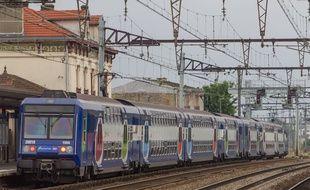 Un transilien en Ile-de-France. (Illustration)