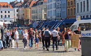 De nombreux effectifs de sécurité ont été déployés sur la braderie de Lille.