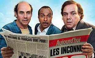 Extrait de l'affiche «Les trois frères: Le retour» avec les Inconnus.