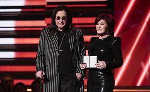 Les époux Ozzy et Sharon Osbourne aux 92e Grammy Awards