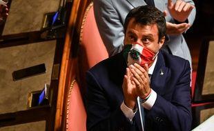 Le sénateur et leader de la Ligue, Matteo Salvini, au Sénat, à Rome, le 30 juillet 2020.