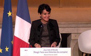 Capture d'écran du discours de Najat Vallaud-Belkacem.