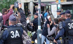 Quelques heurts ont éclaté lors de la manifestation contre la loi Travail à Rennes, le 15 septembre 2016.