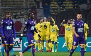 La joie des Nantais sur l'ouverture du score de Coulibaly.