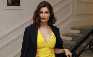 La comédienne et mannequin Laëtitia Casta le 4 juillet 2016 avant un défilé Christian Dior.