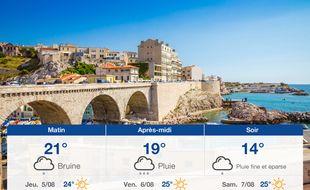 Météo Marseille: Prévisions du mercredi 4 août 2021