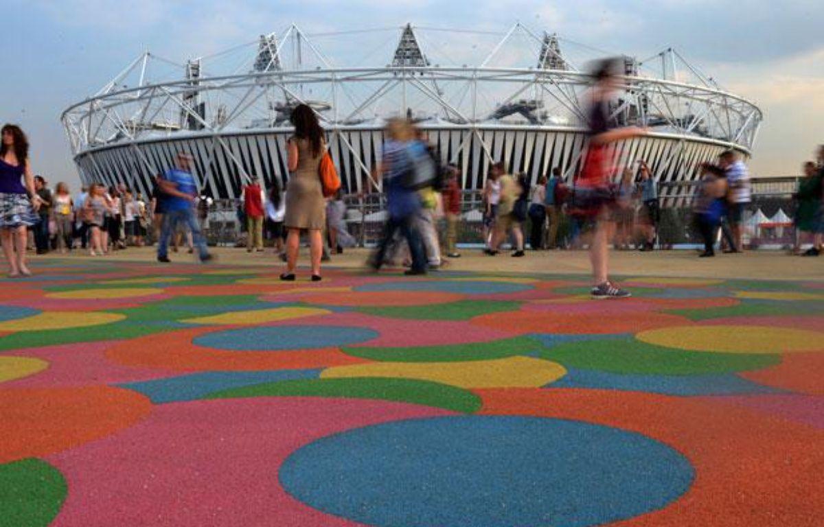 Le Stade Olympique de Londres, qui accueillera la cérémonie d'ouverture des JO le 27 juillet 2012. – JOHANNES EISELE / AFP