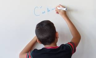 Illustration lors de la rentrée scolaire dans une école à Lyon