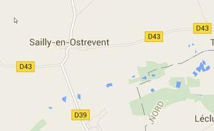 L'explosion s'est produite dans al commune de Sailly-en-Ostrevent