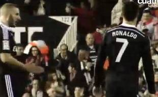 Cristiano Ronaldo et Karim Benzema, le 4 janvier 2014 à Valence.