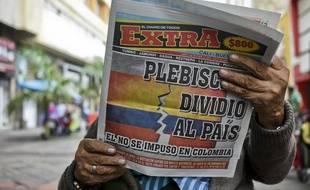 Un journal colombien annonçant la victoire surprise du