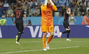 Le gardien de l'équipe d'Argentine, Willy Caballero, après sa bourde contre la Croatie au Mondial 2018, le 21 juin 2018.