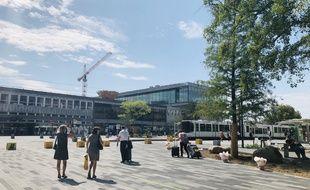 Le 27 août 2019, le parvis de la gare de Nantes termine sa transformation