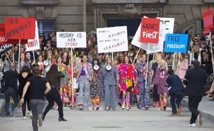 Le défilé Chanel printemps-été 2015 au Grand Palais le 30 septembre 2014.