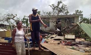 Les ravages du cyclone Pam près de la capitale du Vanuatu, le 14 mars 2015.