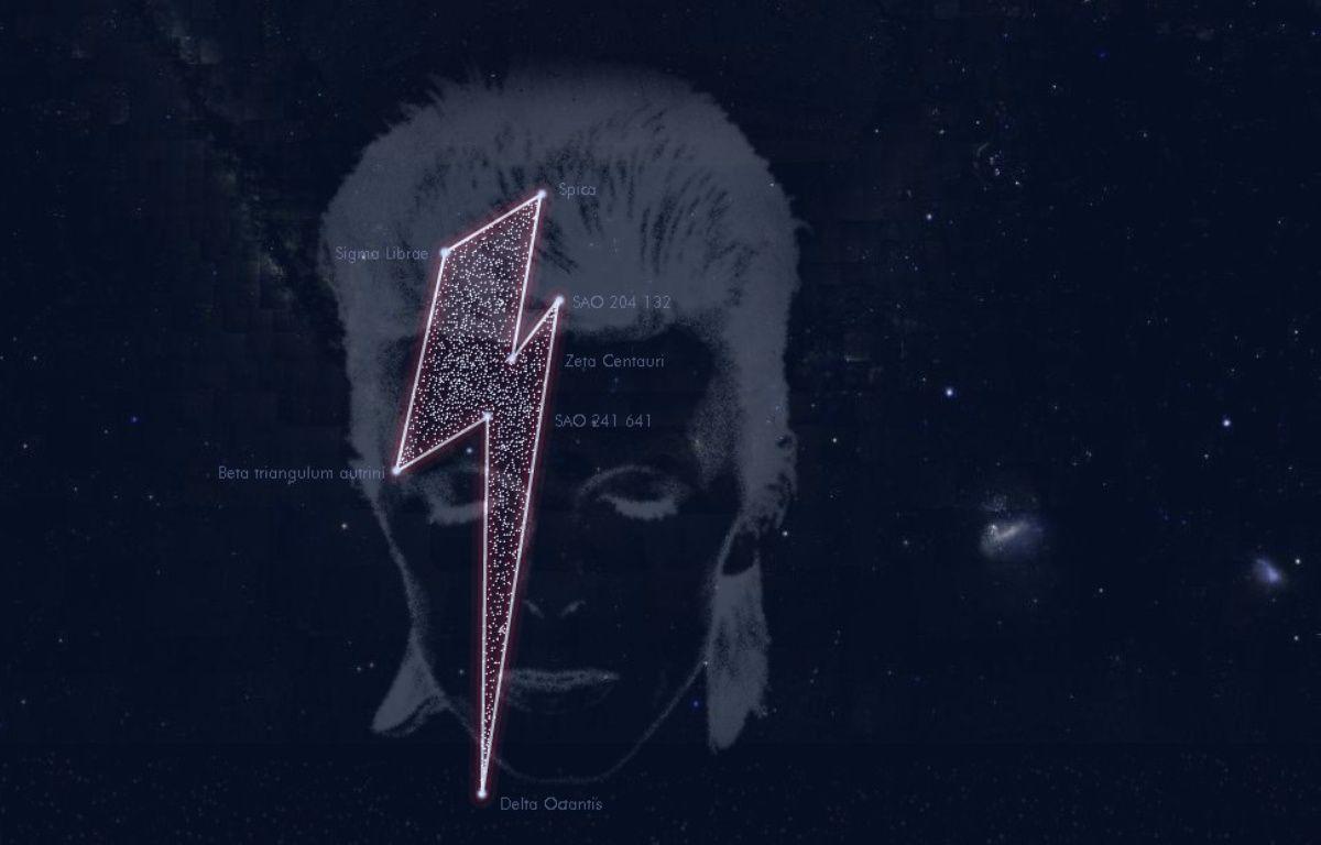 Une constellation de sept étoiles baptisée David Bowie. – http://www.stardustforbowie.be/