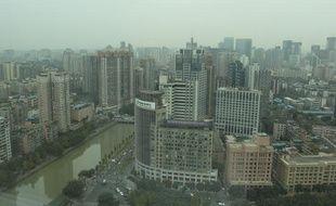 Vue du centre de Chengdu, en Chine, le 16 novembre 2012.