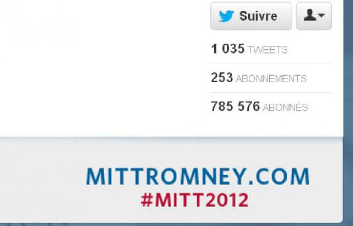 Le compte Twitter du candidat républicain Mitt Romney. – Twitter