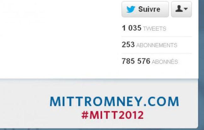 Le compte Twitter du candidat républicain Mitt Romney.
