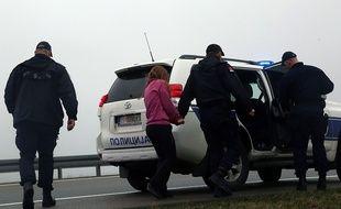 L'arrestation des trois Français en Serbie, le 13 mars 2015.