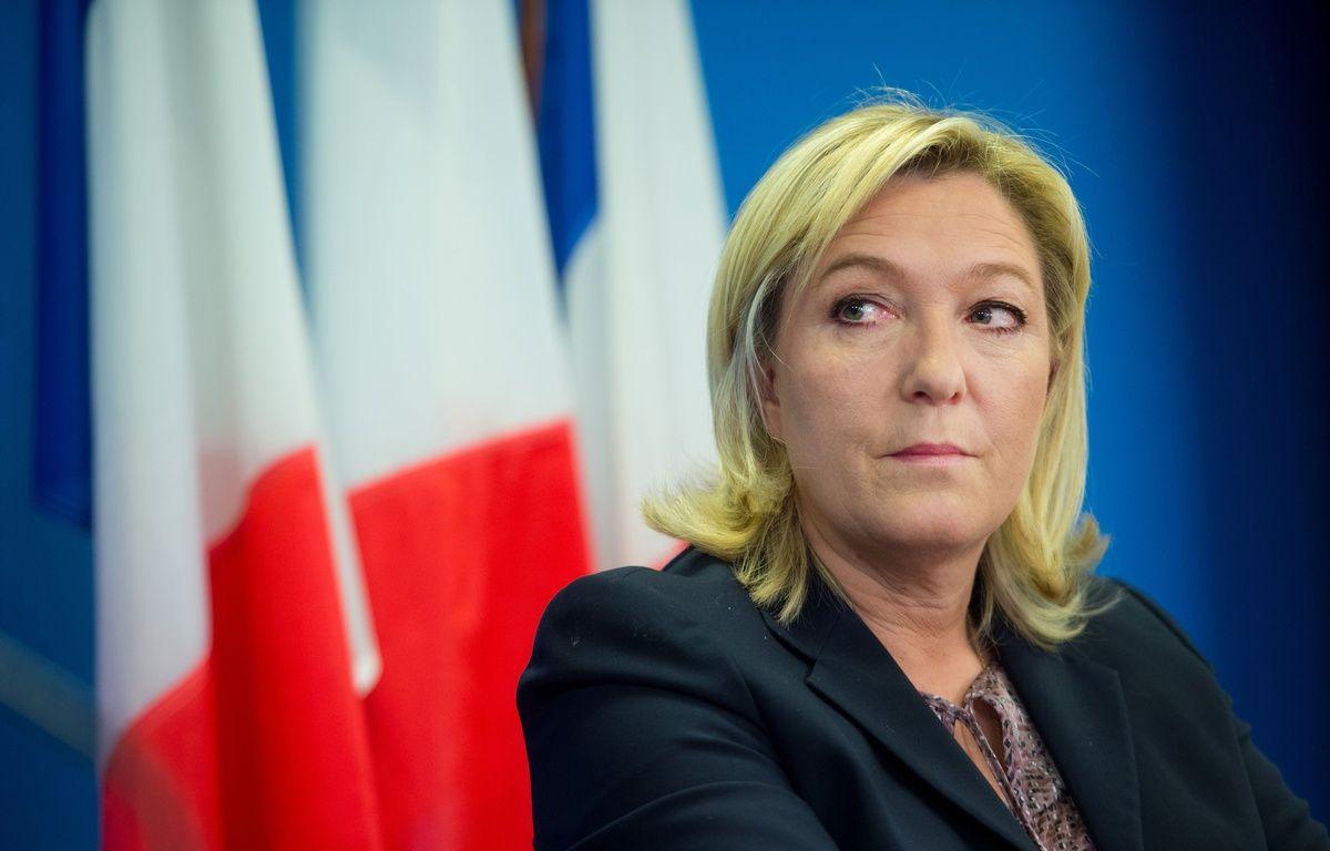 Marine Le Pen, présidente du FN, le 17 février 2015 à Nanterre. CHAMUSSY/SIPA. – SIPA