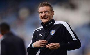 Jamie Vardy, le 03 avril 2016, avant le match Leicester-Southampton.