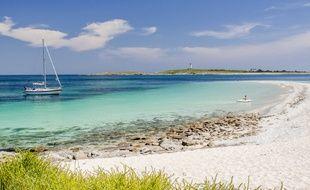 Illustration d'une plage sur l'archipel des Glénan, dans le Finistère.