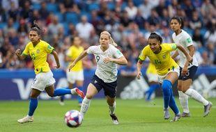 Eugénie le Sommer au duel face au Brésil