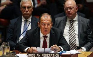 Sergueï Lavrov, le ministre des Affaires étrangères russe, le 26 septembre 2018 à l'ONU.