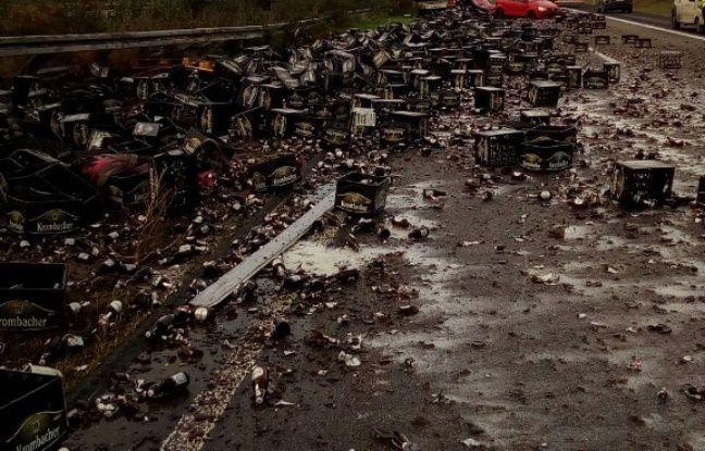nouvel ordre mondial | Allemagne: Une autoroute bloquée par… 30.000 bouteilles de bière