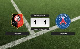 Stade Rennais - PSG: Match nul entre le Stade Rennais et le PSG sur le score de 1-1