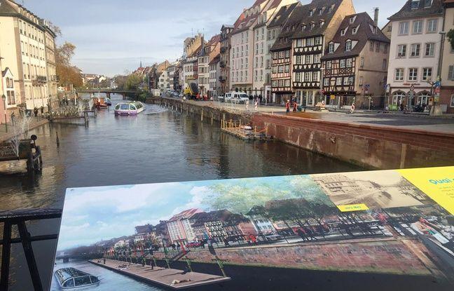 L'Ill quai des Bateliers. Strasbourg le 21 novembre 2017.
