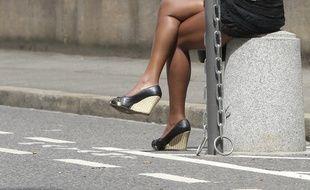 Une prostituée dans le quartier Perrache de Lyon, le 26 juin 2012. CYRIL VILLEMAIN/20 MINUTES
