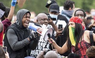 L'acteur John Boyega en manifestation à Londres ce mercredi