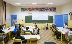 Une salle de classe à Nice (Illustration)