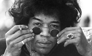 Jimi Hendrix, en 1967, à Londres.