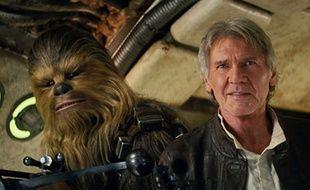 Chewbacca et Han Solo dans «Le Réveil de la force».