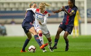 Ada Hegerberg (au centre) retrouvera dès les quarts de finale de la Coupe de France le PSG d'Irene Paredes et Formiga.