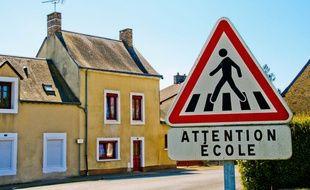 Panneau «attention école» (illustration).