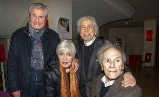 Claude Lelouch, Nicole Croisille, Francis Lai et Jean-Louis Trintignant, les anciens d'«Un homme et une femme» réunis en 2016.