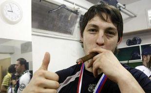 Ladislav Scurko après le titre de champion de Slovaquie de son équipe de Kosice, ce hockeyeur 23 ans vient d'avouer le meurtre d'un arbitre.